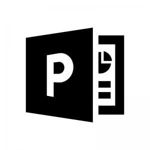 PowerPoint(パワーポイント)ファイルの白黒シルエットイラスト03