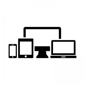 レスポンシブウェブデザインのシルエットイラスト02