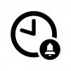 時間のリマインダーの白黒シルエットイラスト02