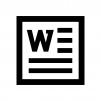 Word(ワード)ファイルの白黒シルエットイラスト