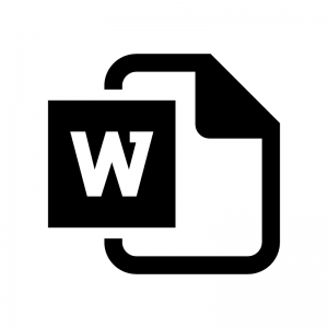 Word(ワード)ファイルの白黒シルエットイラスト02