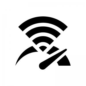 インターネット・Wi-Fiのスピード(速度)の白黒シルエットイラスト