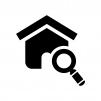 空き家・物件を検索の白黒シルエットイラスト02