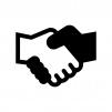 握手の白黒シルエットイラスト04