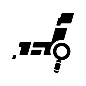 エリア・地域検索の白黒シルエットイラスト02