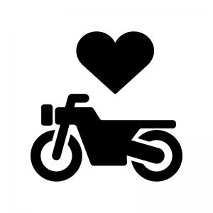 バイク保険の白黒シルエットイラスト02