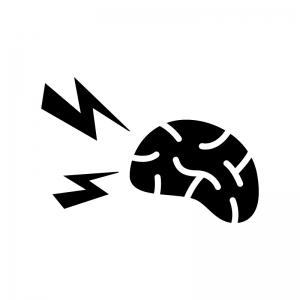 イライラ・頭痛の白黒シルエットイラスト
