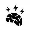 イライラ・頭痛の白黒シルエットイラスト02