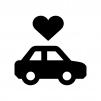 自動車保険の白黒シルエットイラスト03
