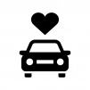 自動車保険の白黒シルエットイラスト04