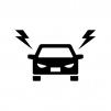 車の煽り(あおり)運転の白黒シルエットイラスト02