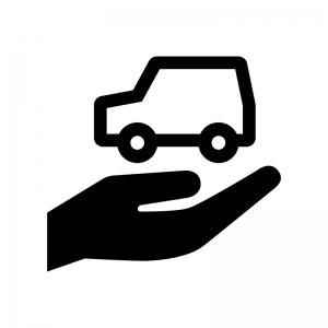 自動車保険の白黒シルエットイラスト02