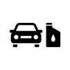 車のオイル交換の白黒シルエットイラスト02