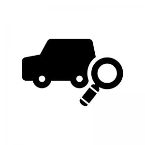 車を検索の白黒シルエットイラスト02