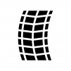 タイヤ痕の白黒シルエットイラスト02