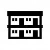 賃貸・アパートの白黒シルエットイラスト02