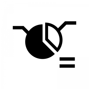 データ分析・解析の白黒シルエットイラスト