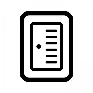 電源スイッチの白黒シルエットイラスト02
