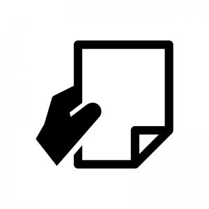 書類提出・申請の白黒シルエットイラスト02