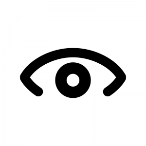 目・瞳の白黒シルエットイラスト04