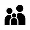 家族の白黒シルエットイラスト02