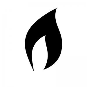 火・炎の白黒シルエットイラスト02