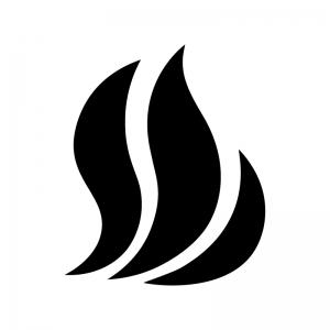 火・炎の白黒シルエットイラスト04