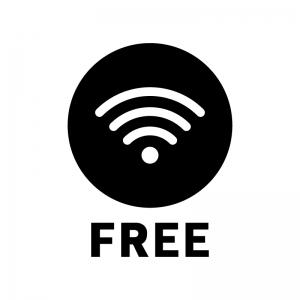 フリーWi-Fiの白黒シルエットイラスト02