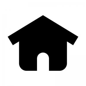 家の白黒シルエットイラスト09