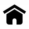 家の白黒シルエットイラスト10