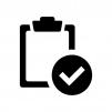 チェック・点検済みの白黒シルエットイラスト02