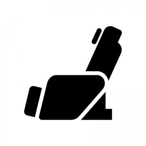 マッサージチェアの白黒シルエットイラスト