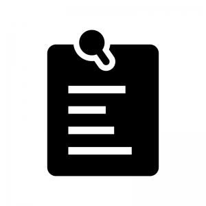 掲示板・伝言メモの白黒シルエットイラスト02