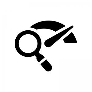 メーターの点検の白黒シルエットイラスト
