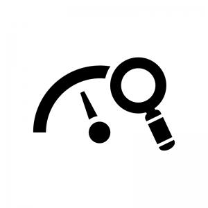 メーターの点検の白黒シルエットイラスト02