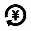 投資・資産運用の白黒シルエットイラスト02