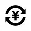 投資・資産運用の白黒シルエットイラスト03