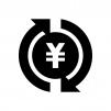 投資・資産運用の白黒シルエットイラスト04