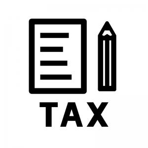 納税・確定申告の白黒シルエットイラスト02