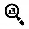 物件・賃貸を検索の白黒シルエットイラスト
