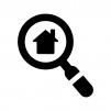 物件検索の白黒シルエットイラスト
