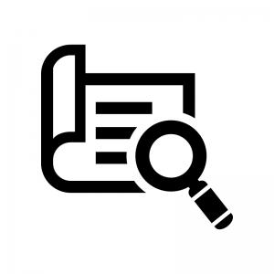 レポートを分析・点検の白黒シルエットイラスト02