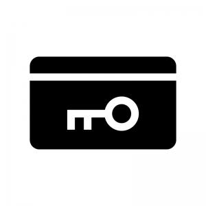 カードキーの白黒シルエットイラスト03