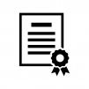 証明書の白黒シルエットイラスト02