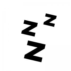 眠る・睡眠の白黒シルエットイラスト02