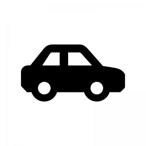 車の白黒シルエットイラスト