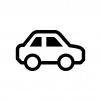 車の白黒シルエットイラスト02