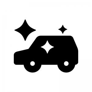 新車の白黒シルエットイラスト03