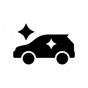 新車の白黒シルエットイラスト04