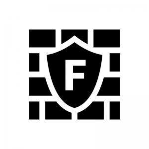 WAF(Webアプリケーションファイアウォール)の白黒シルエットイラスト03